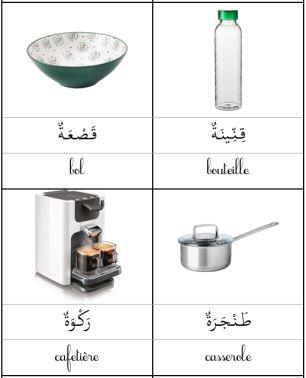 Les nomenclatures en arabe... La cuisine