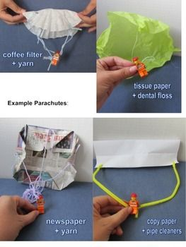 Fairy Tale STEM activity - Jack and the Parachute freebie