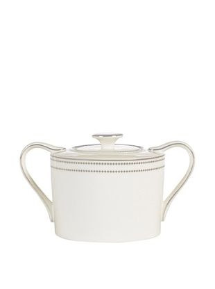 61% OFF Mikasa Chelsea Platinum Covered Sugar Bowl, Ivory/Platinum
