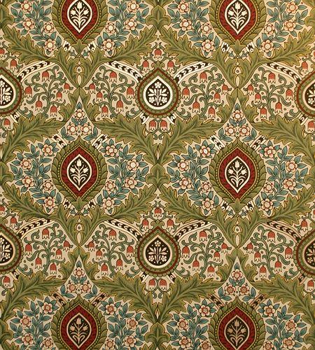 Victorian Art Wallpapers | Knightsbridge Damask Wallpaper | Bradbury & Bradbury