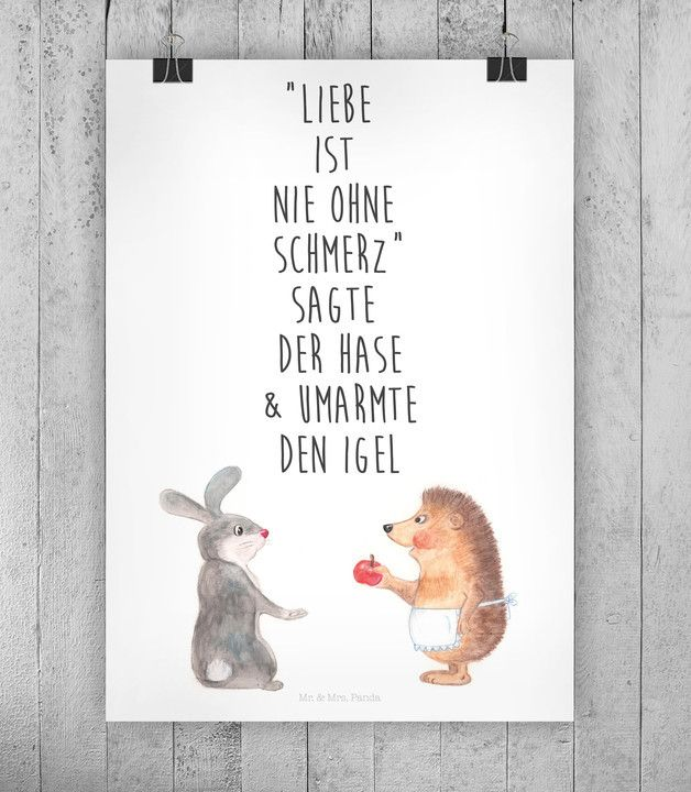Motivierendes Poster über die Liebe / motivational art print about love made by small-world via DaWanda.com