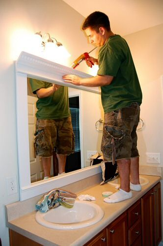 25 Best Ideas About Crown Molding Mirror On Pinterest Half Bathroom Remodel Half Bathrooms