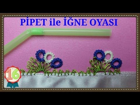 ÇATALLA İĞNE OYASI - PÜSKÜL OYASI/ / crochet, knitting, dıy, handmade, craft, patterns, - YouTube