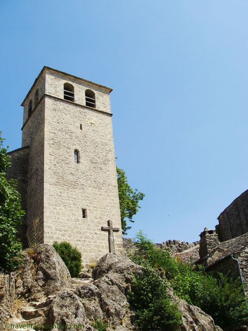 La Couvertoirade, a former Knights Templar Commanderie - Fortified church