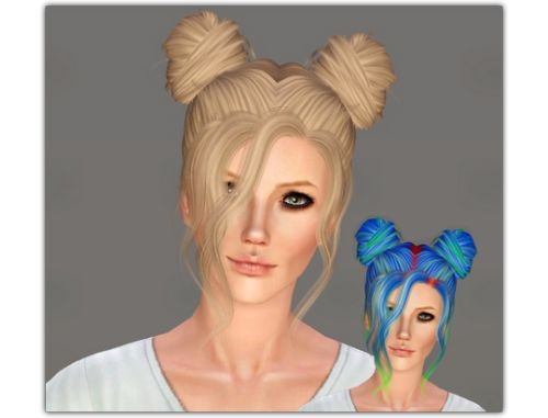 "ifcasims:  ""LeahLillith - Nevaeh"" CAS thumbnail  Mesh by Leah Lillith  Hair texture by Shockshame (but I did it a little smoother) and I started use Pastry-Box controls (long time ago ._.).  ""  DOWNLOAD → SFS  """