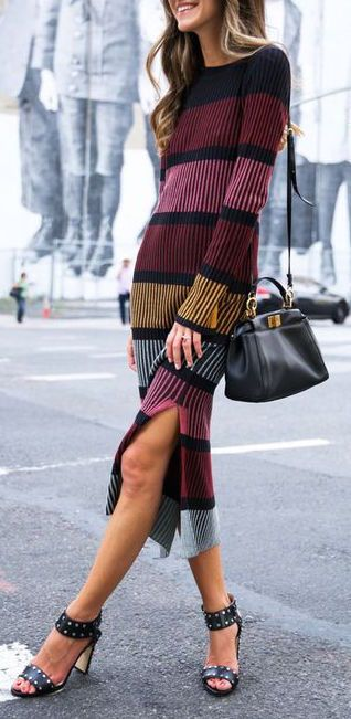 #fall #outfits / knit dress