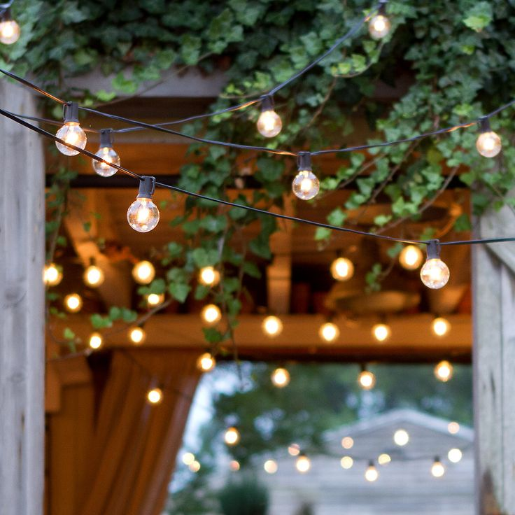 Stargazer Globe Lights in Outdoor Living Lighting + Lanterns at Terrain #PinMyDreamBackyard