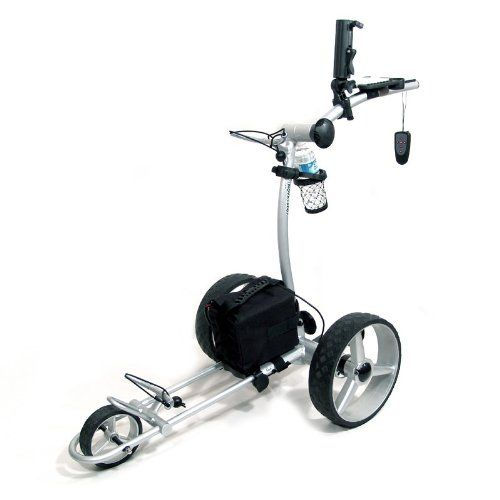 NovaCaddy Electric Golf Trolley Cart with Remote Control, X9R, 12V, Silver ** Click on the image for additional details.