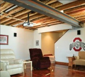 To Expose Or Not Expose, That Is The Ceiling Question. Hereu0027s An Example  Of. Basement Ceiling OptionsExposed ...