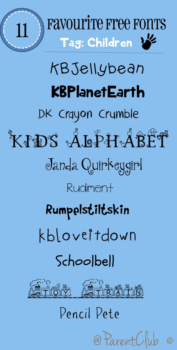 Helpful picture with fonts i could possibly use in my work, designed around children, and very easy to read. Love the Crayon type font, and the fun of the KBPlanetEarth font, i feel with very sharp clear vectors and photography this could be very well coupled.
