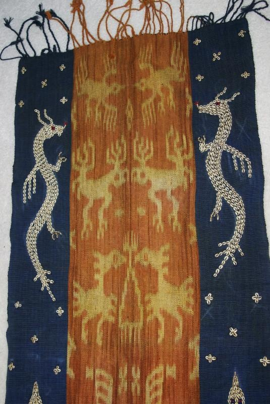 Collector Handspun Handwoven Sumba Hinggi Warp Ikat 8ft Tapestry Waeo Songket 68 Offered by #asmatcollection on Bonanza
