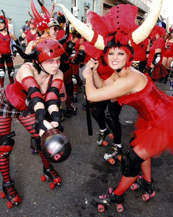 Run with the Bulls in New Orleans! July 8-10, 2016 Roller Derby teams from across the country will chase you down the streets of New Orleans! Boozing & festivities start at 7 a.m.