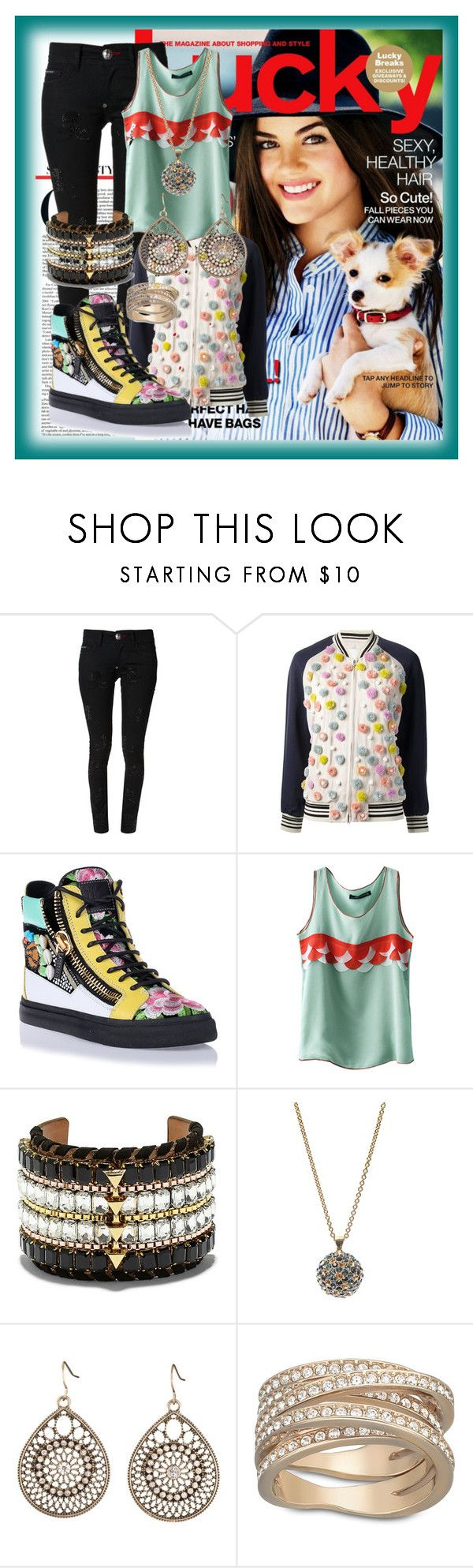 """""""Sneakers Outfit"""" by deedee-pekarik ❤ liked on Polyvore featuring Philipp Plein, 3.1 Phillip Lim, Giuseppe Zanotti, Vince Camuto, Alexander McQueen and Swarovski"""
