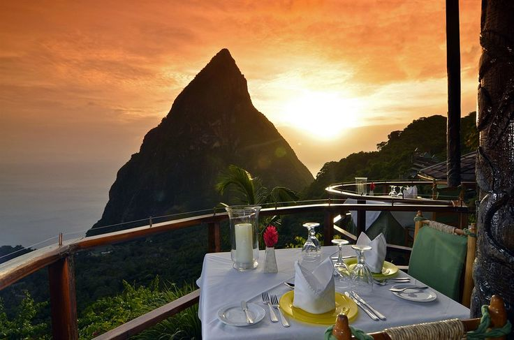Tropical paradise has been found in St Lucia! Enjoy breathtaking views, full-service spas and open rooms that make you feel at one with nature.Ladera Resort. St. Lucia St., Lucia.