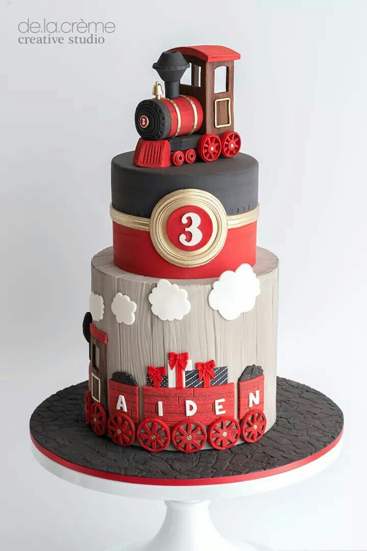 Birthday boy! Train themed cake!