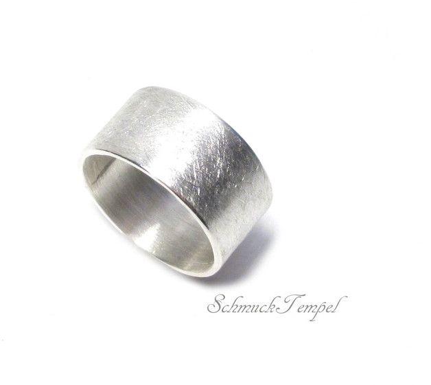 Bandringe - Ring Silber breit - ein Designerstück von SchmuckTempel bei DaWanda