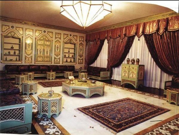 كنبات مجالس رجال ونساء فخمة مغربي وخليجي قصر الديكور Moroccan Living Room Home Home Decor