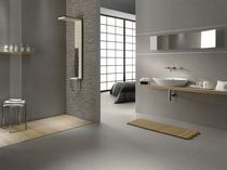 Wood effect tiles in the bathroom large size porcelain stoneware tile ZER04UATTRO MARAZZI