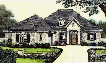 Attractive european cottage house plan 48105fm cottage for European house plans for narrow lots