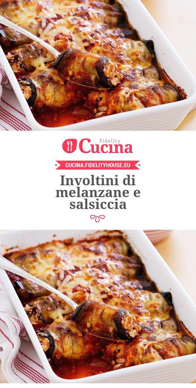 Involtini di #melanzane e #salsiccia