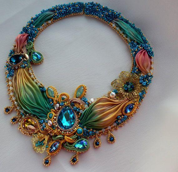 Jewelry necklacesoutache shiborihandmade by LenaLyngdal on Etsy
