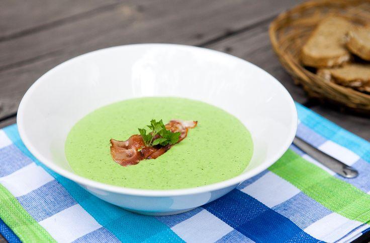 Нежный суп из зеленого горошка от Leno REGUSHADZE, автора кулинарного блога Crazy Cucumber.