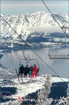 Heavenly Ski Resort, South Lake Tahoe, CA.  My first downhill skiing experience was at Heavenly.  I am afraid of heights so it was a challenging experience but exciting.  I'm into cross-country instead.