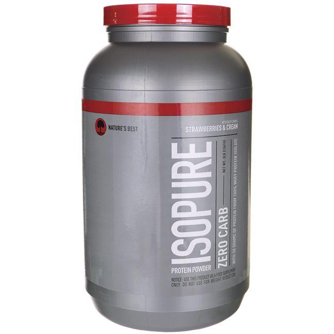 Isopure Zero Carb Strawberries and Cream 3 lbs Pwdr Isopure protein powder Isopure Protein