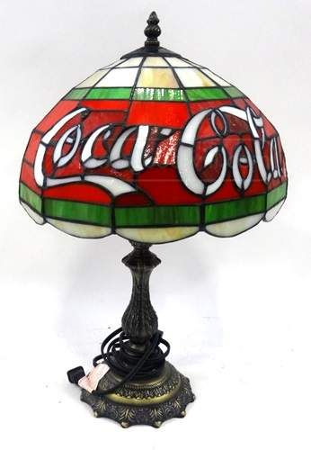 Vintage Coca Cola Shade Tiffany Style Table Lamp Victorian Era Life In 2018 Pinterest Lamps And