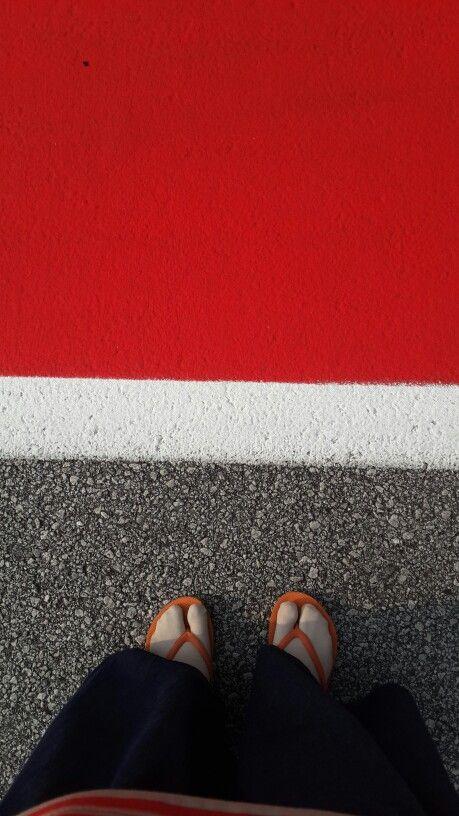 My footsteps at pitlane Sepang International Circuit