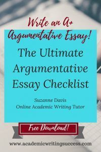 argumentative essay organization