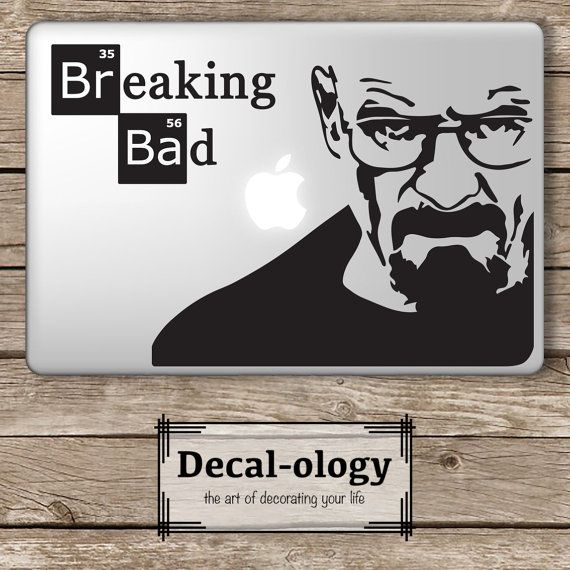 Breaking bad set apple macbook laptop vinyl sticker decal