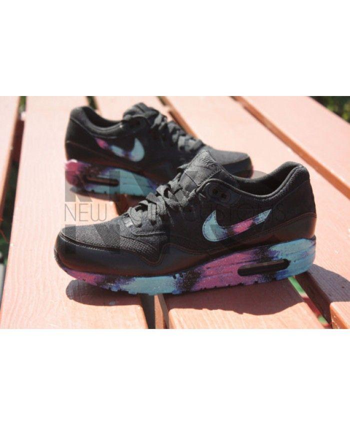 san francisco 16e23 bd31b Nike Air Max 1 Galaxy Custom Black Sneakers Sale Online   Nike air max 90  candy drip   Pinterest   Nike air max, Nike air and Air max
