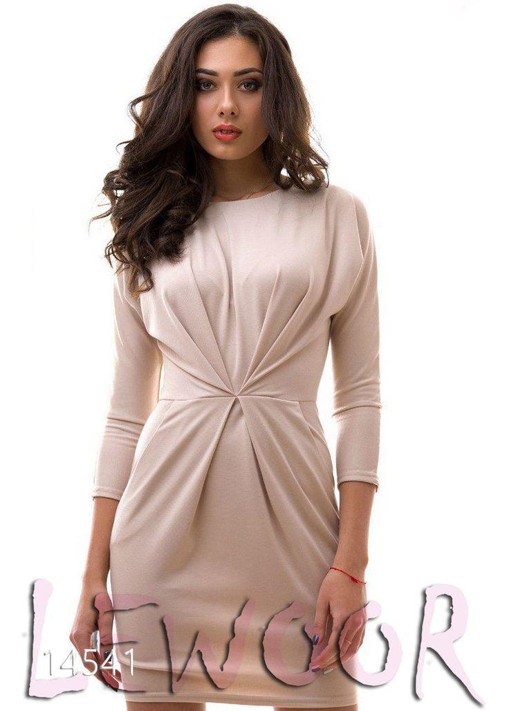 Платье с интересной драпировкой для торжеств - купить оптом и в розницу, интернет-магазин женской одежды lewoor.com