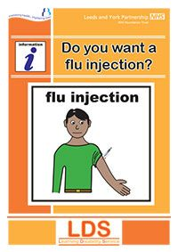 Flu Injection Leaflet- information on side-effects of a flue shot and the symptoms of flu one might get if they skip the shot