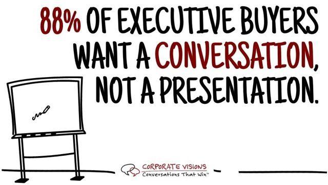 80% executive buyers want a conversation not a presentation