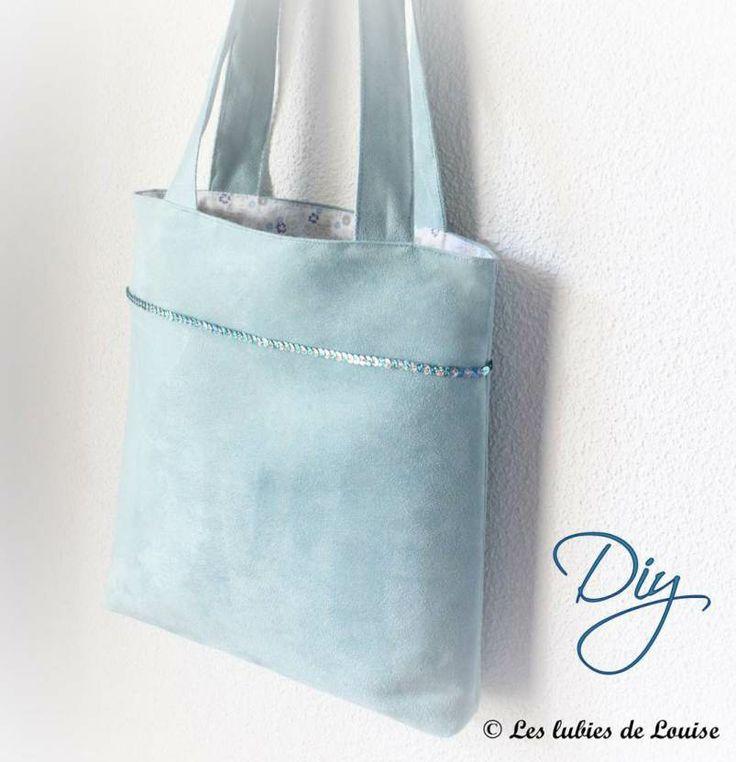 Tuto sac cabas facile DIY- Les lubies de Louise Bag - Tote bag - free pattern - DIY