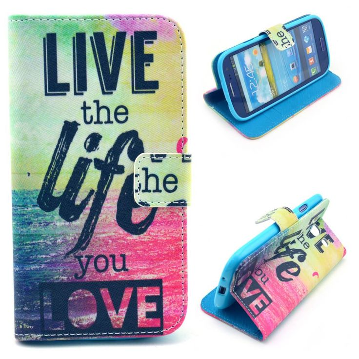 Live the Life you Love bookcase voor Samsung Galaxy S3