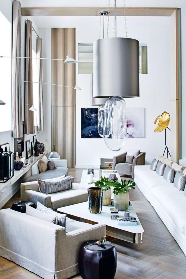 Despite the derelict state in which she first found the cavernous 840 square metre space she now calls home british interior designer kelly hoppen