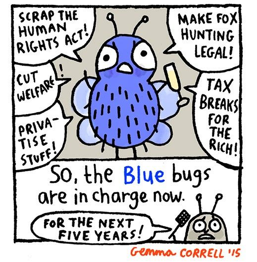 The UK Election Explained—With Bugs! - by Gemma Correll