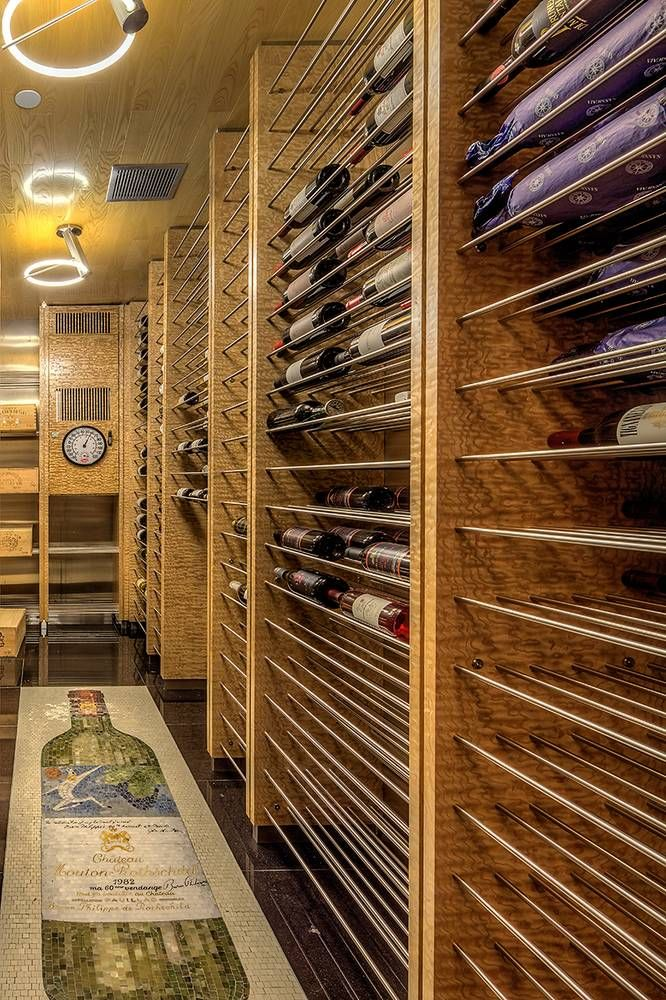 Five Over-the-Top Wine Cellars You Have to See to Believe on domino.com #winecellars #wine
