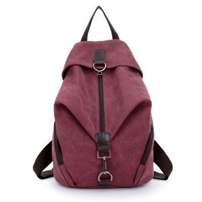 Pure Color Canvas Backpack ~ College Book Bag ~ Travel Bag | $38.88   #purplerelic #CanvasBags #bags #TravelBag #WomenBackpacks #SchoolBag