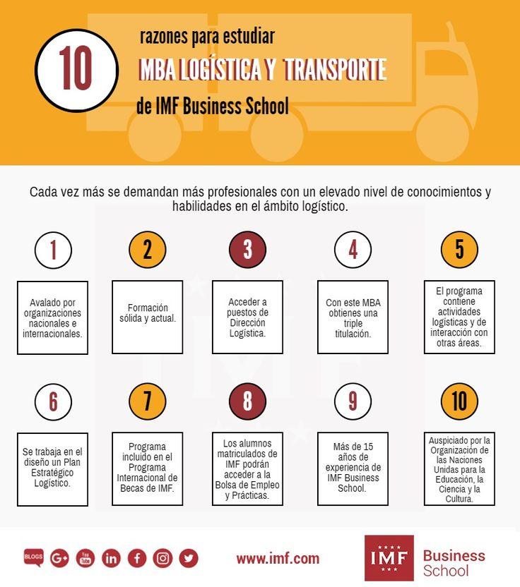 10 razones para estudiar un Máster MBA especialidad Logística y Transporte de IMF Business School