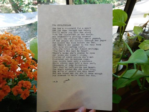 Typewritten & Signed Poem A5 Your choice of by thecuriouscosmos