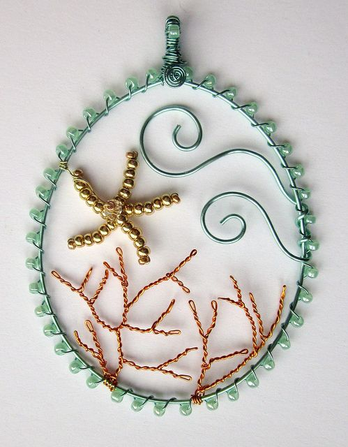 Tropical Picture Pendant by Louise Goodchild, via Flickr