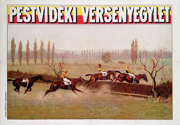 Pest county equestrian club vintage poster
