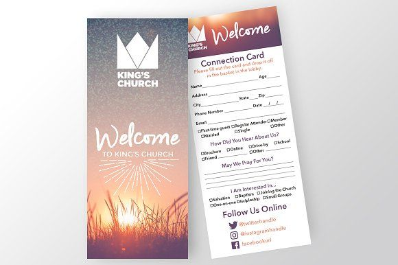Church Connection Card by Team Alabaster on @creativemarket