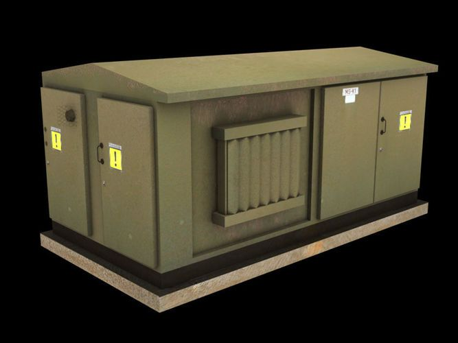 Electrical Transformer low poly for games and VR | 3D Model