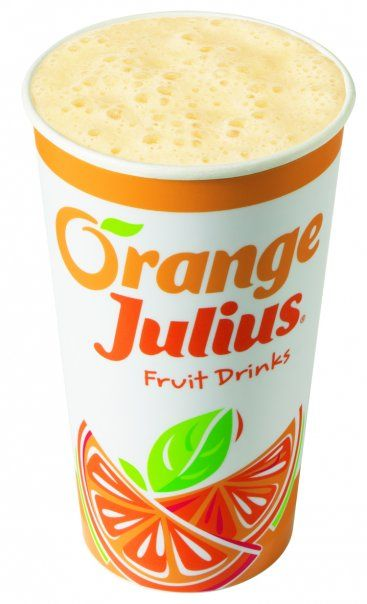 Orange Julius Recipe!  Orange Juice or Orange juice concentrate  Water  Powdered egg whites (baking aisle)  Powdered milk  cream of coconut (just a smidge)  confectioner's sugar   vanilla extract  ice    Throw it all in the blender, except for the ice.  Use a decent amount of the p. egg whites and p. milk, the more you use, the frothier it gets.  Blend until combined, and then taste it and adjust the ingredients accordingly.  Then add the ice, more or less depending on how slushy you like…
