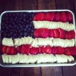 fruit american flag